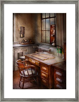 Drafting - Where Ideas Come From  Framed Print by Mike Savad
