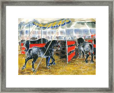 Drafts At The Fair Framed Print by Mary Armstrong