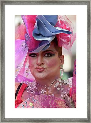 Drag Queen Gay  Pride Parade Nyc 6 27 10 Framed Print by Robert Ullmann