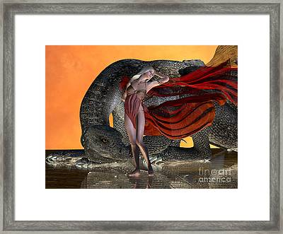 Dragon And Fairy Framed Print