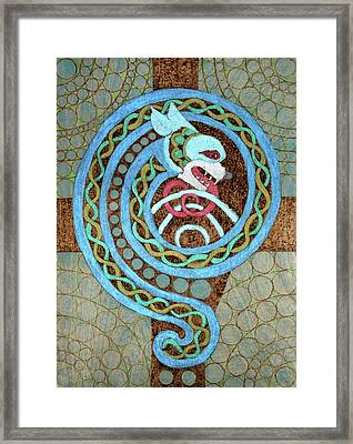 Dragon And The Circles Framed Print