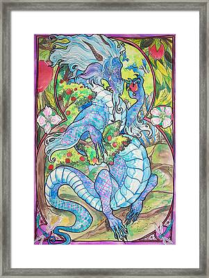 Framed Print featuring the painting Dragon Apples by Jenn Cunningham