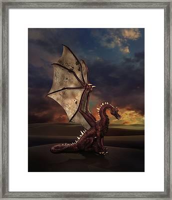 Dragon At Sunset Framed Print