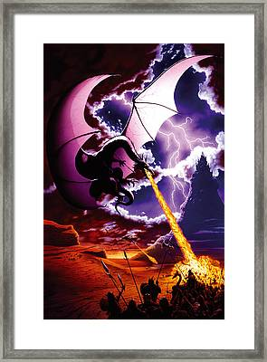 Dragon Attack Framed Print by The Dragon Chronicles - Steve Re