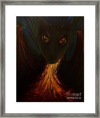 Dragon Baby Framed Print by Zina Stromberg