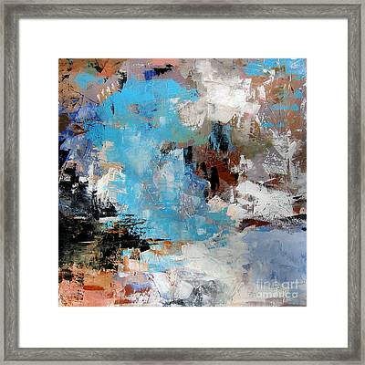 Dragon Bleu Framed Print