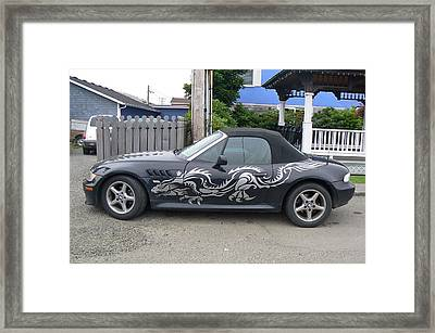 Dragon Bmw Framed Print by Pamela Patch