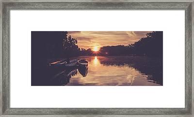 Dragon Boats Framed Print