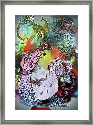Dragon Clashing Framed Print