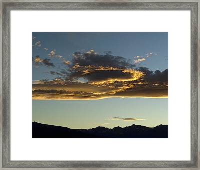 Dragon Cloud Framed Print by Alpha Pup