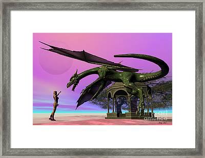 Dragon Framed Print by Corey Ford