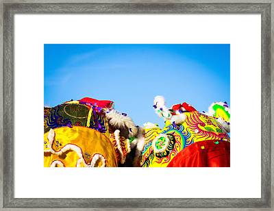 Framed Print featuring the photograph Dragon Dance by Bobby Villapando