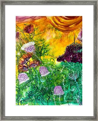 Dragon Daze Framed Print by Julie Engelhardt
