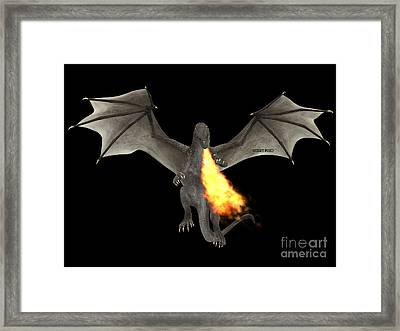 Dragon Fire Framed Print by Corey Ford