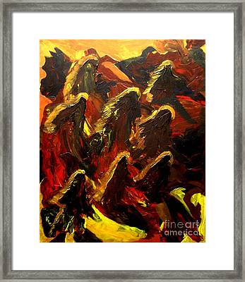 Dragon Fire Framed Print by Karen L Christophersen