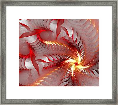 Dragon Flower Framed Print by Anastasiya Malakhova
