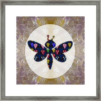 Dragon Fly Cute Painted Face Cartons All Over Donwload Option Link Below Personl N Commercial Uses Framed Print by Navin Joshi
