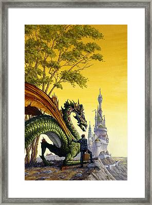 Dragon For Sale Framed Print by Richard Hescox