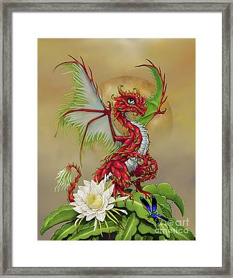 Framed Print featuring the digital art Dragon Fruit Dragon by Stanley Morrison
