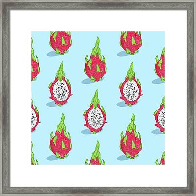 Dragon Fruit Framed Print by Evgenia Chuvardina