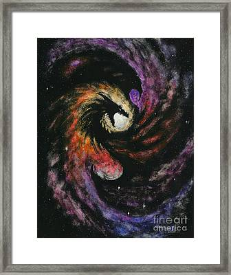 Framed Print featuring the painting Dragon Galaxy by Stanley Morrison