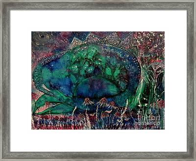 Dragon Guardian Framed Print by Julie Engelhardt