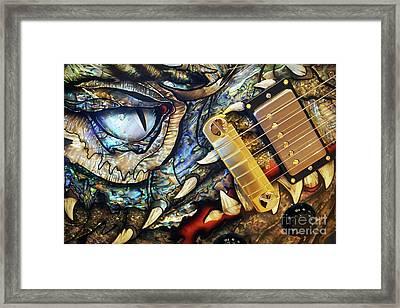 Dragon Guitar Prs Framed Print