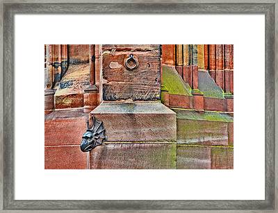 Dragon Head. Strasbourg Cathedral. Framed Print by Andy Za