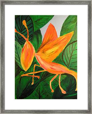 Framed Print featuring the painting Dragon Horsefly by Lola Connelly