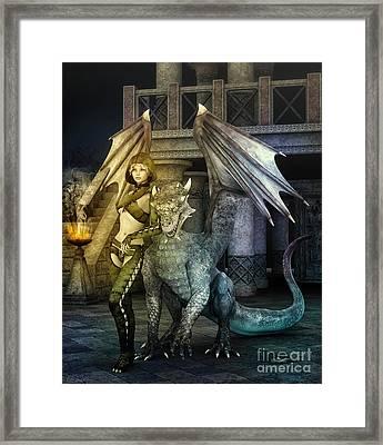Dragon Lady Framed Print by Jutta Maria Pusl