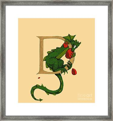 Dragon Letter D 2016 Framed Print