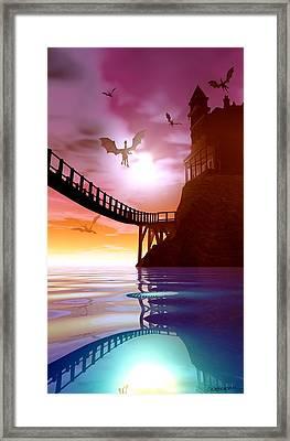 Dragon Manor Framed Print