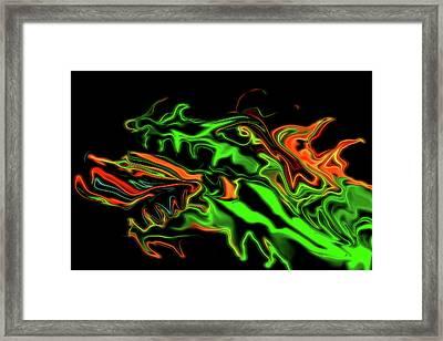 Dragon Framed Print by MaryAnn Janzen