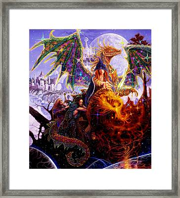 Dragon Master's Apprentice Framed Print by Steve Roberts