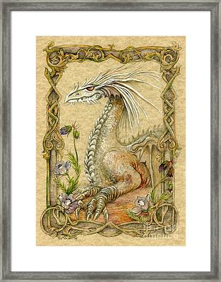 Dragon Framed Print by Morgan Fitzsimons