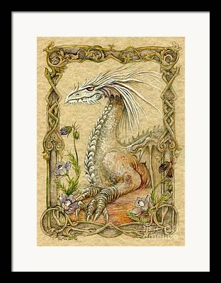 Mythical Mixed Media Framed Prints