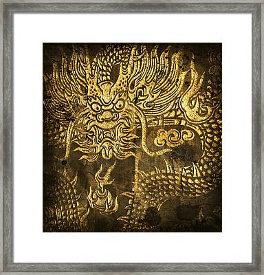 Dragon Pattern Framed Print