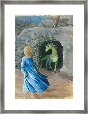 Dragon Princess 1 Framed Print by Sally Balfany