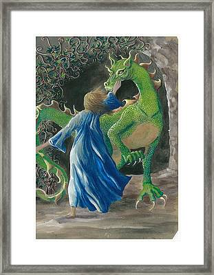 Dragon Princess 3 Framed Print by Sally Balfany