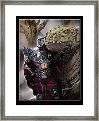 Dragon Rider02 Framed Print by Roel Wielinga