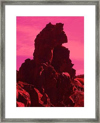 Dragon-rock Framed Print by Ramon Labusch