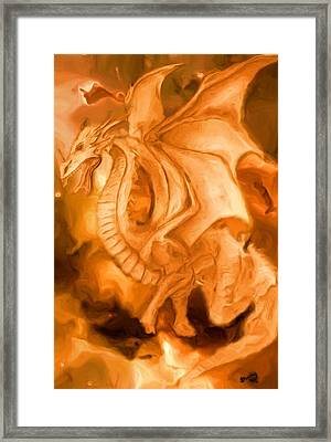 Dragon Framed Print by Shelley Bain