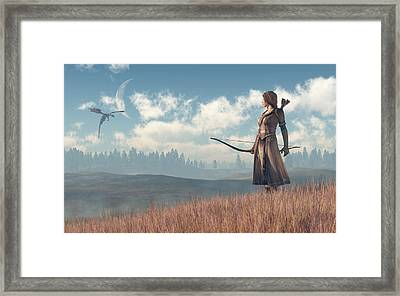 Dragon Sighting Framed Print