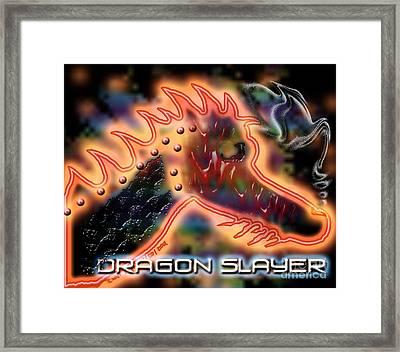 Dragon Slayer Framed Print by Cheri Doyle
