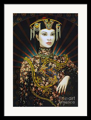 Chinese Hat Framed Prints