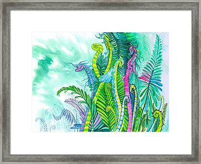 Dragon Sprouts Framed Print