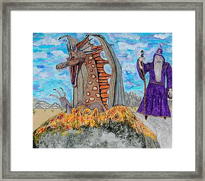 Dragon Summons. Framed Print by Ken Zabel
