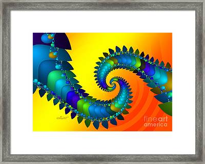Dragon Tail Meeting Framed Print by Jutta Maria Pusl