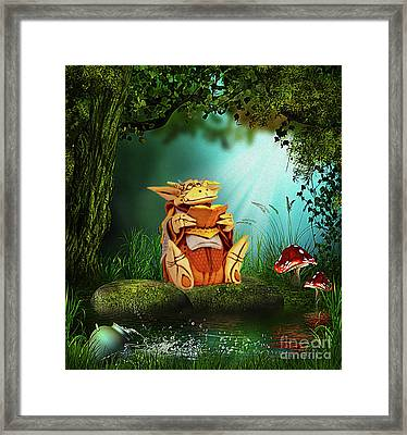 Dragon Tales Framed Print
