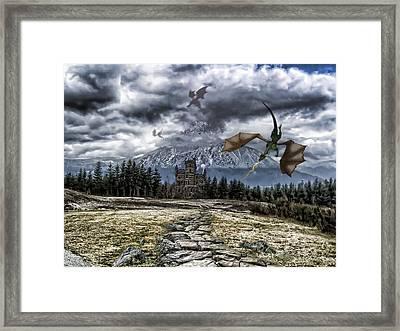 Dragon Trail. Framed Print by Anastasia Michaels